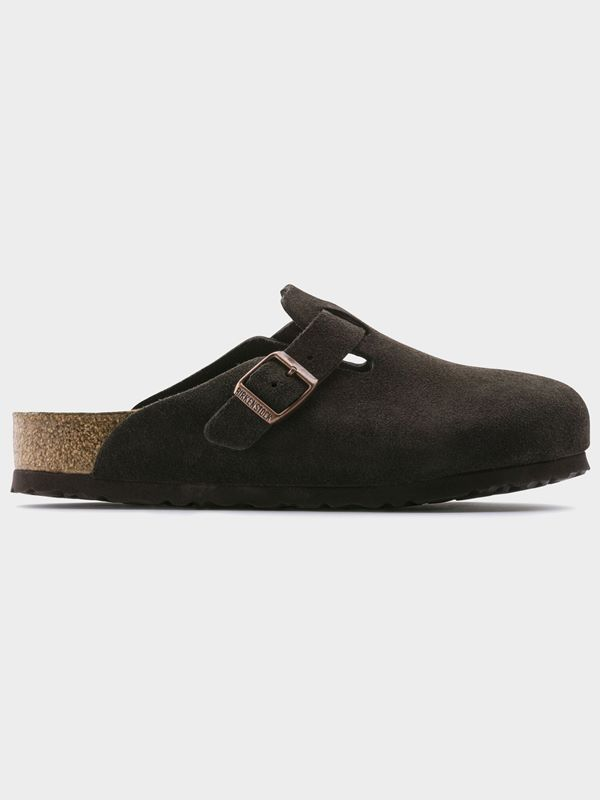 aef6d5cf749f Birkenstock Boston Soft Footbed In Mocha Suede Leather