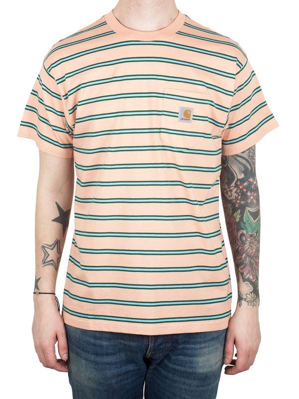 f3eba897a0ec Carhartt WIP Houston Pocket T-Shirt In Houston Stripe