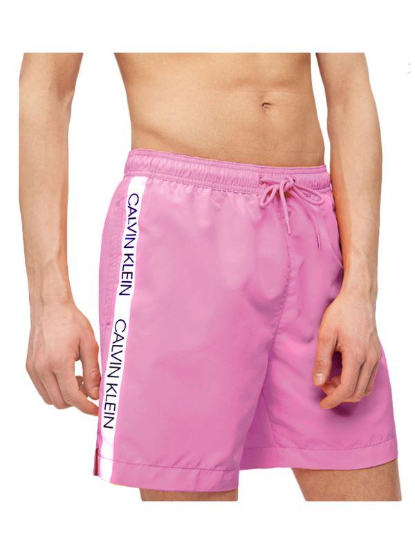 26e649ee8d Calvin Klein Side Tape Swimshorts In Pink | Dapper Street