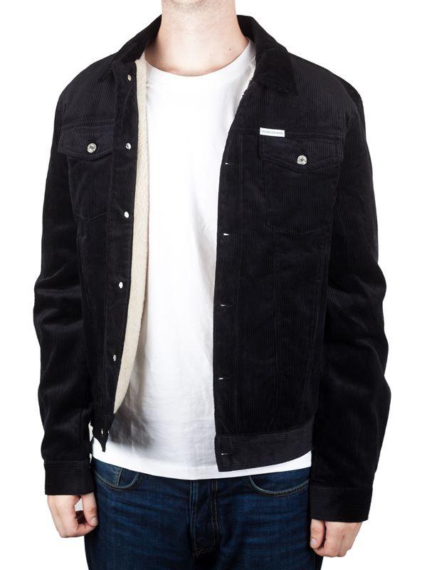 cbfe80841ee Calvin Klein Jeans Corduroy Trucker Jacket In CK Black