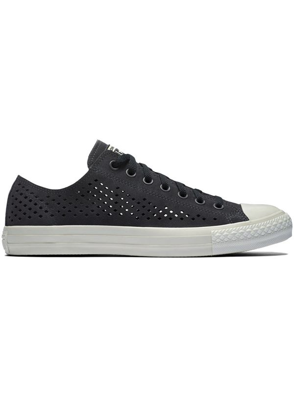33d982e3895eae Converse Chuck Taylor All Star Ox Perforated In Almost Black ...