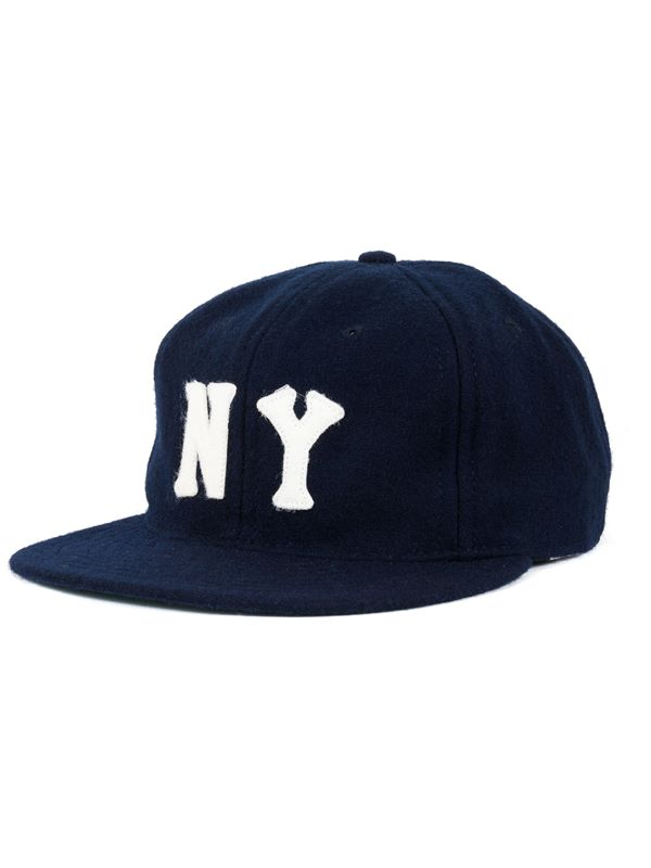 ae8128821fd Ebbets Field Flannels New York Black Yankees 1936 Cap In Navy ...