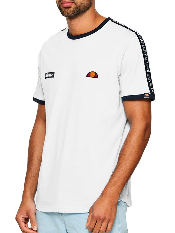 459063c5a7a Ellesse Fede Taped T-Shirt In White | Dapper Street