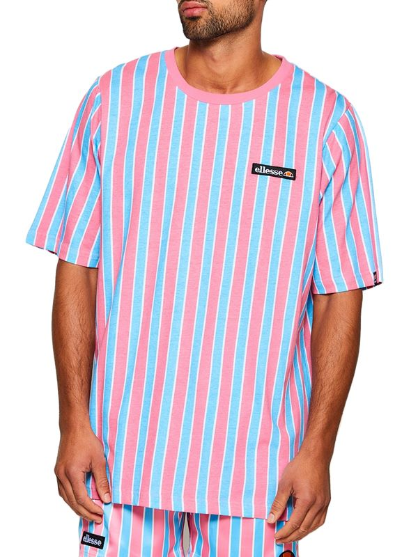 47b6f859 Coral Tee Oversized Stripe T-Shirt In Pink