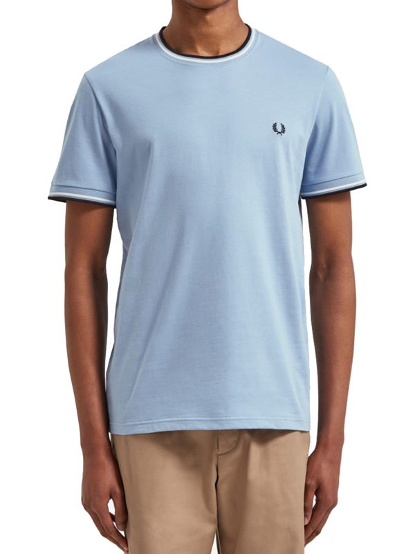 a205fcf2986a Fred Perry Twin Tipped T-Shirt In Sky | Dapper Street