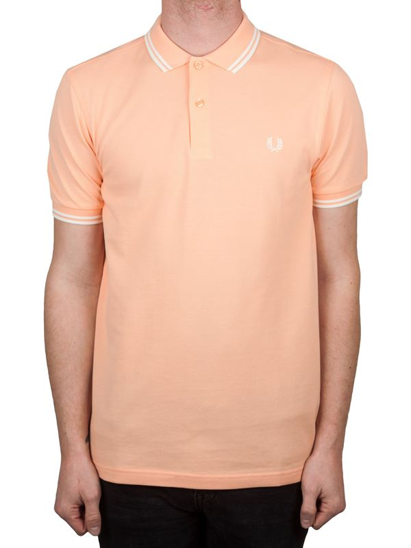 d4ad182f Fred Perry Twin Tipped Polo In Nectar/Snow White | Dapper Street