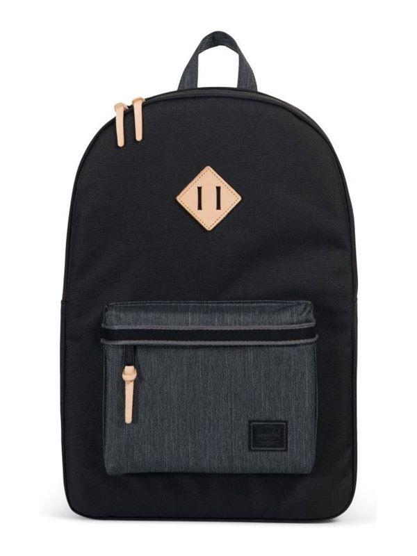 9904637c782 Herschel Heritage Backpack In Black Black Denim