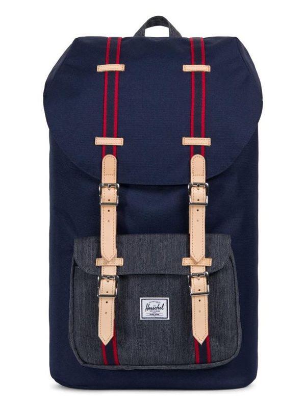 3727587446f Herschel Little America Backpack In Peacoat Dark Denim
