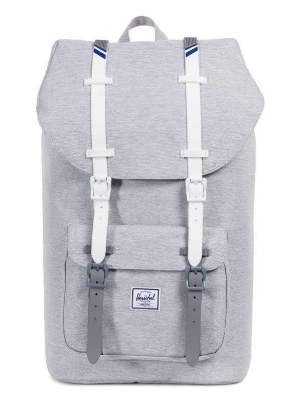 ad8a490f07 Herschel Little America Backpack In Light Grey   White   Blueprint ...