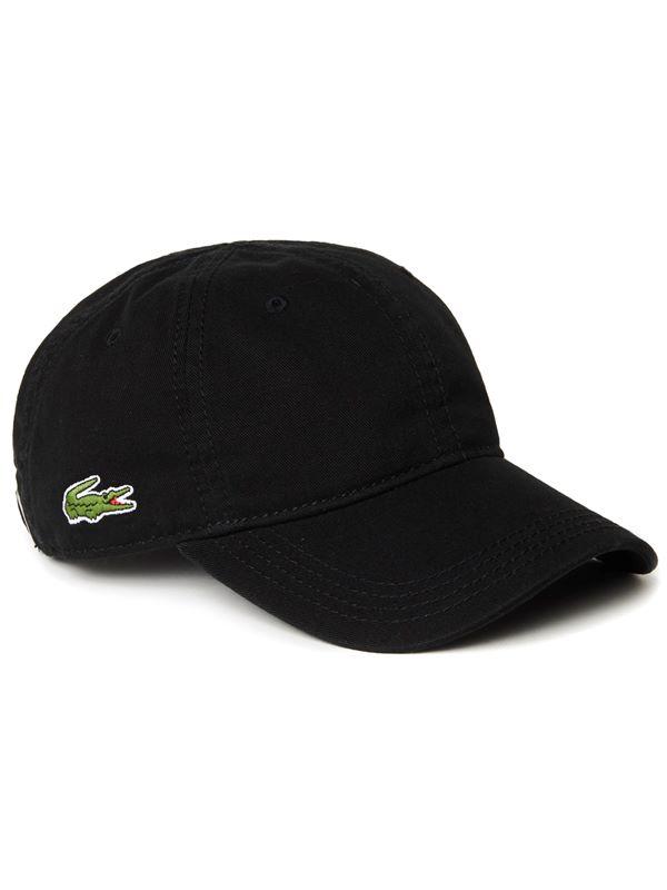 061cd395880 Lacoste Logo Gabardine Cap In Black
