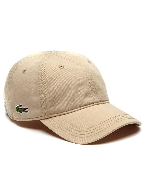 8661c06d74c Lacoste Logo Gabardine Cap In Tan