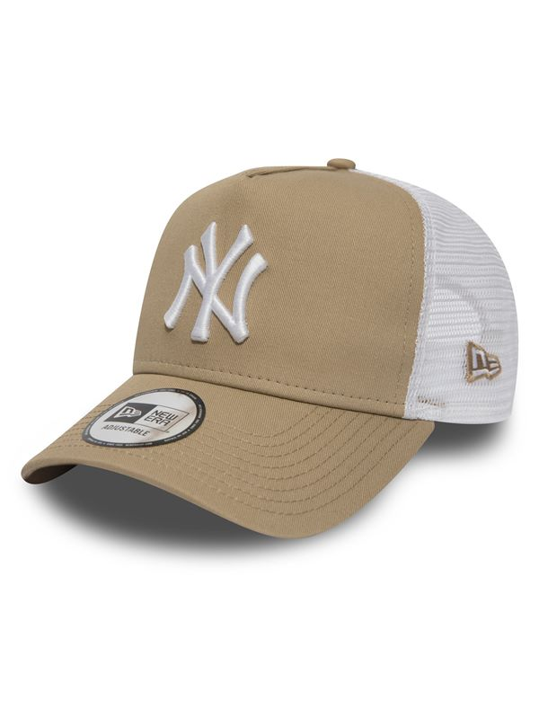 New Era League Essential Trucker In New York Yankees Camel  9877ebf4ded