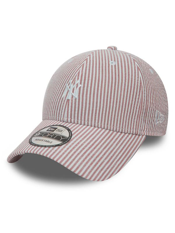317dc7be New Era Seersucker 9Forty In NY Pink White | Dapper Street