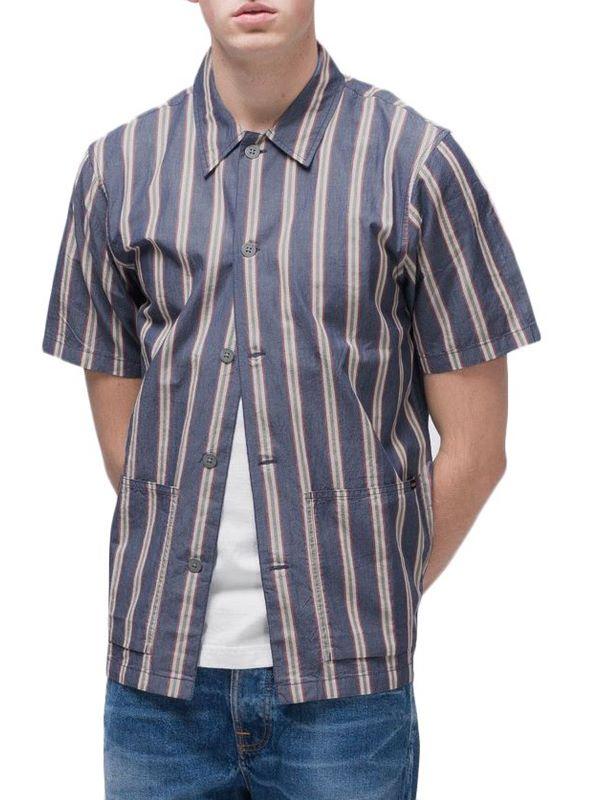 e15cb0e383 Nudie Jeans Svante Cuban Stripe Shirt