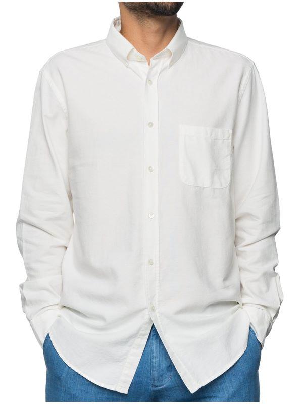76e9447a6c83 Portuguese Flannel Belavista Button Down Shirt In Off White Oxford ...