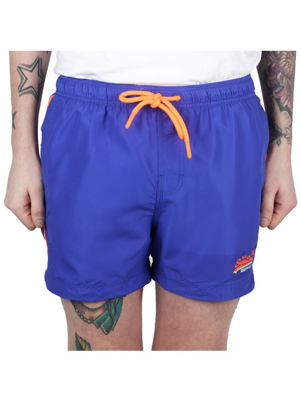 339c39e70ccf4 Superdry Beach Volley Swim Short In Voltage Blue | Dapper Street