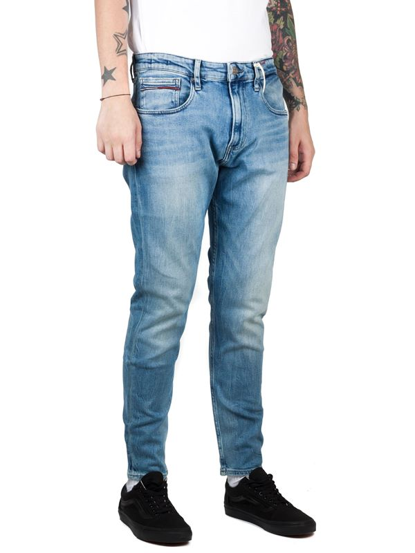 dc077c225 Tommy Jeans Modern Tapered Jeans In Mid Wash | Dapper Street
