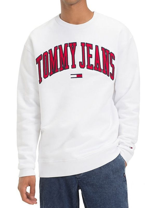 d18b30f538ae47 Tommy Jeans Tommy Classics Logo Crew In Classic White