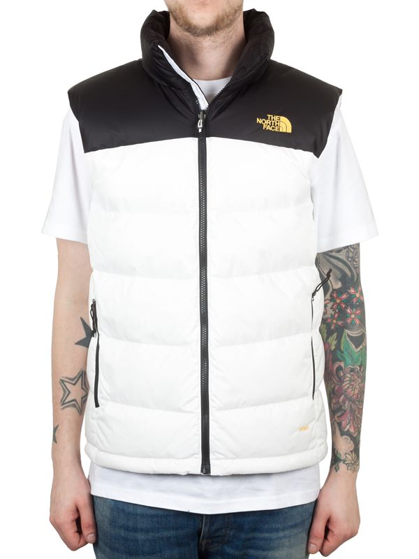 cf7613ff0718 The North Face Nuptse 2 Vest In White Black