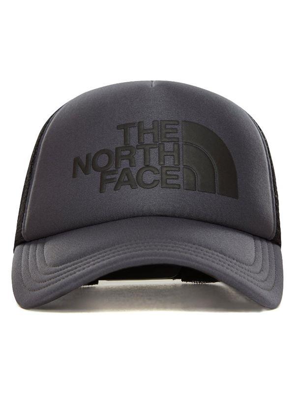 829e5cac0c8 The North Face TNF Logo Trucker In Asphalt   Black