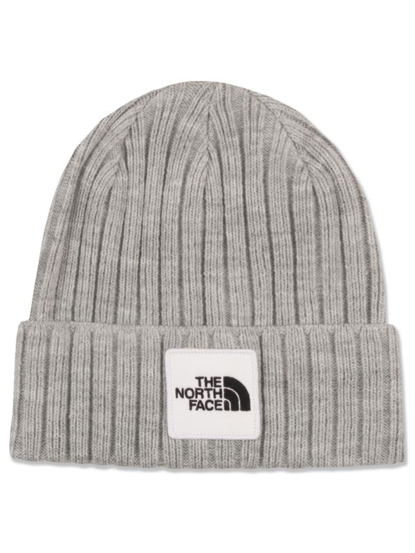32c8c360d20 The North Face TNF Logo Boxed Cuffed Beanie In Light Grey