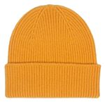 100% Italian Merino Wool Beanie In Burned Yellow