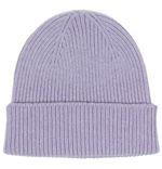 100% Italian Merino Wool Beanie In Soft Lavender