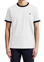 Fred Perry Ribetes White