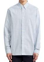 Two Colour Gingham Shirt In Sky