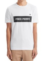 Fred Perry Graphic Print T-Shirt In White