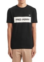 Fred Perry Graphic Print T-Shirt In Black