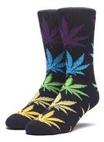 Melange Plantlife Socks In Black Multi